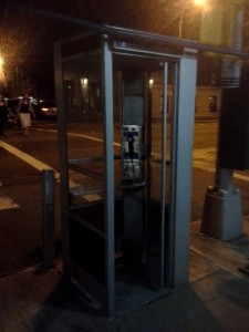 My crappy phone camera does not capture the glory of this phone booth